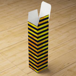 Amber background   stripes pattern wine gift box