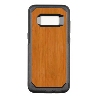 Amber Bamboo Wood Grain Look OtterBox Commuter Samsung Galaxy S8 Case