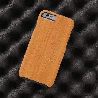 Amber Bamboo Wood Grain Look Tough iPhone 6 Case