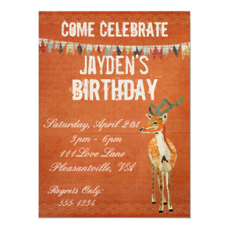 Amber Buck Retro Birthday Invitation