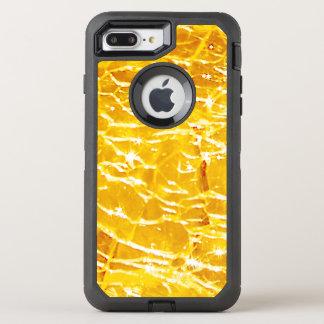 Amber Crackled Glass Design OtterBox Defender iPhone 8 Plus/7 Plus Case