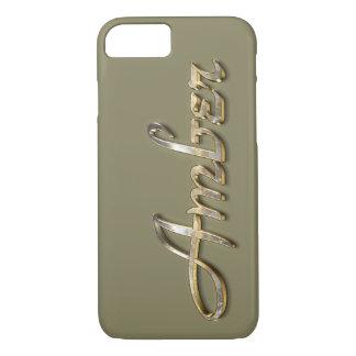 """""""Amber""""Custom Monogram iPhone 7 Case"""
