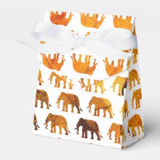 Amber elephants pattern custom background color favor box