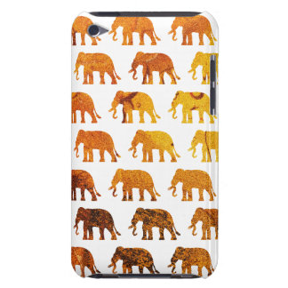 Amber elephants pattern custom background color iPod touch covers