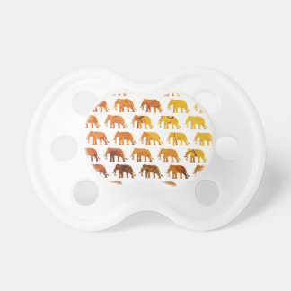 Amber elephants pattern custom background color pacifier