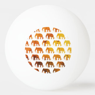 Amber elephants pattern custom background color ping pong ball