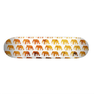 Amber elephants pattern custom background color skateboards
