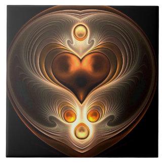 Amber Eternity Heart Tile