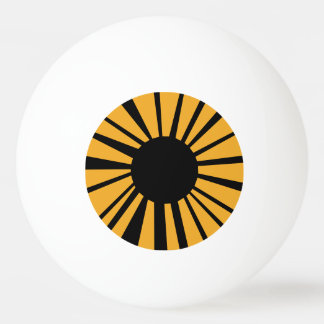 Amber Eye with Black Pupil on White Eyeball Ping Pong Ball