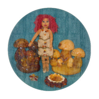 Amber Faerie Doll Cutting Board