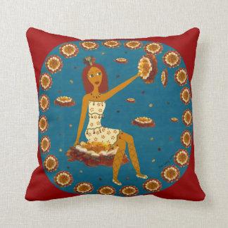 Amber Faerie Throw Pillow