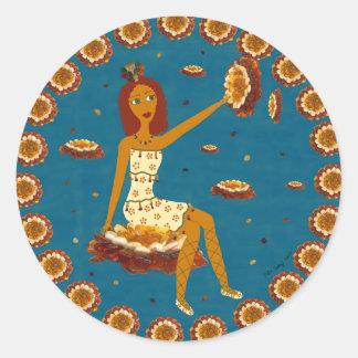 Amber Faerie Round Stickers