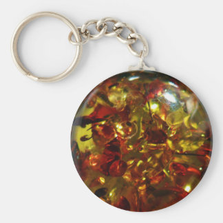 Amber Fossil Keychain