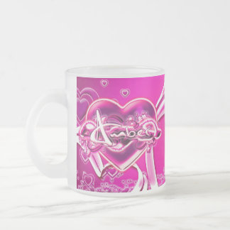 Amber Frosted Glass Coffee Mug