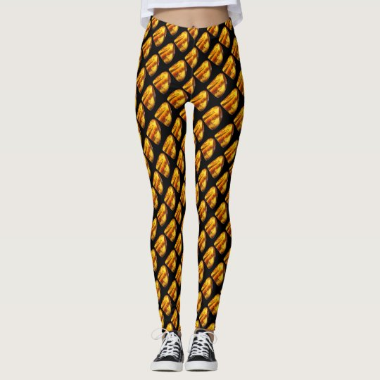 Amber gemstone leggings