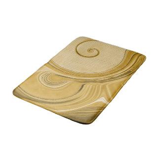 Amber Gold Spirals And Waves Bath Mat