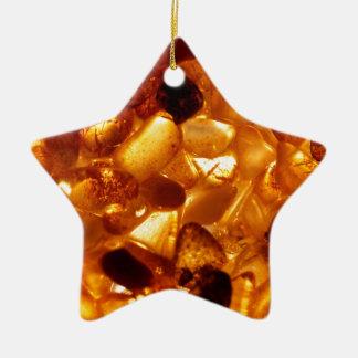 Amber grains with backlight illumination ceramic ornament