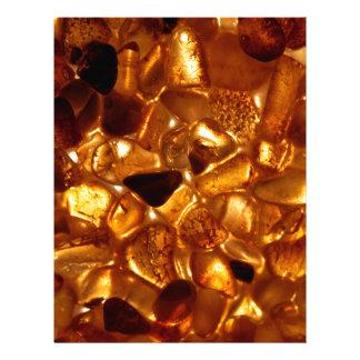 Amber grains with backlight illumination letterhead