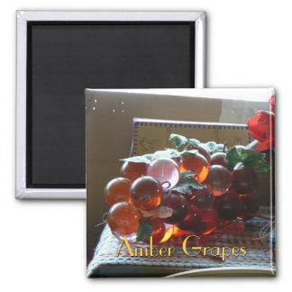 Amber Grapes Square Magnet