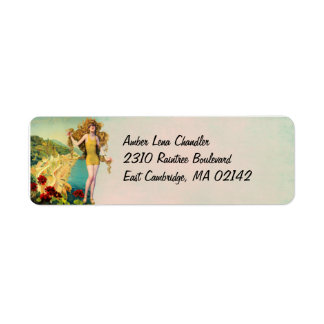 Amber in Gold and Teal - Address Labels