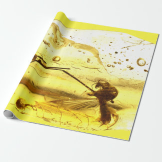Amber inclusion wrapping paper