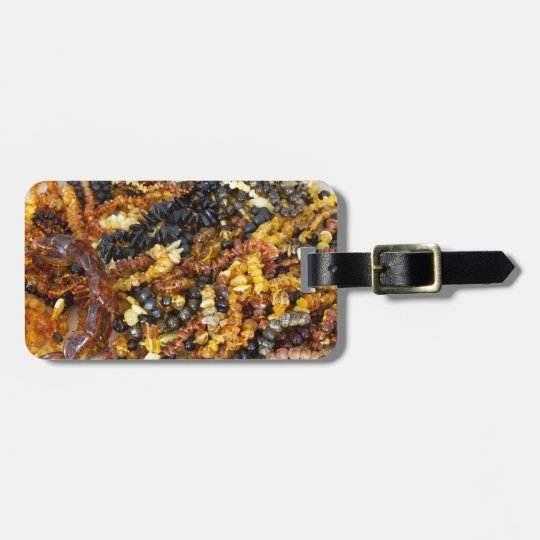 Amber jewellery bag tag