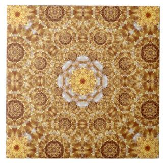 Amber Mandala Tile