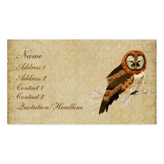 Amber Mums Owl Business Card/Tags