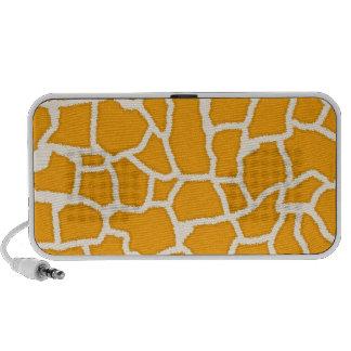 Amber Orange Giraffe Animal Print Speakers