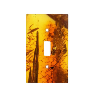 Amber pattern light switch cover