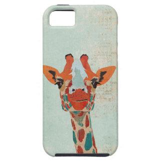 Amber Peeking Giraffe  Blue  iPhone Case