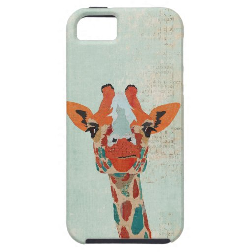 Amber Peeking Giraffe  Blue  iPhone Case iPhone 5 Case