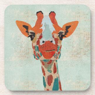 Amber Peeking Giraffe Coaster