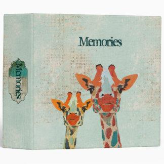 Amber Peeking Giraffes  Album Binder