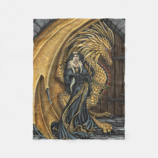 Amber Princess & Dragon Fleece Blanket