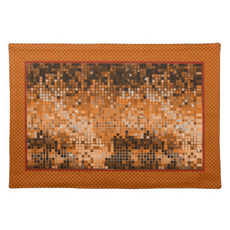 Amber Sequins Look-Disco Ball Pattern Place Mat