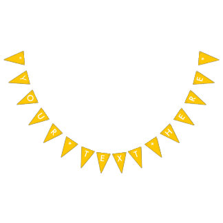 Amber Solid Color Customize It Bunting Flags