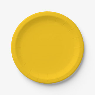 Amber Solid Colour Customize It Paper Plate
