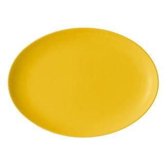 Amber Solid Colour Customize It Porcelain Serving Platter
