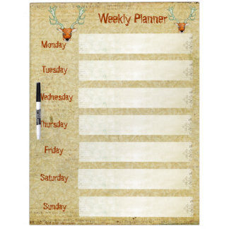 Amber Stags Weekly Planner Dry Erase Board