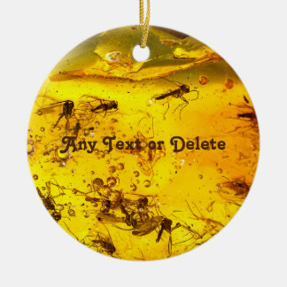Amber stone close up ceramic ornament