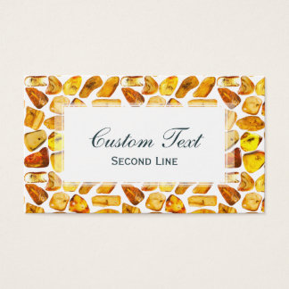 Amber stone inclusions business card