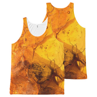 Amber stone texture background All-Over-Print tank top