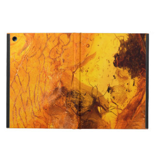 Amber stone texture background case for iPad air