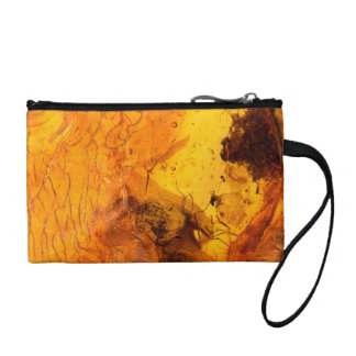 Amber stone texture background coin purse
