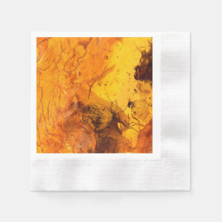 Amber stone texture background disposable napkins