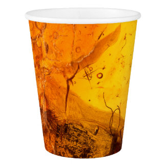 Amber stone texture background paper cup