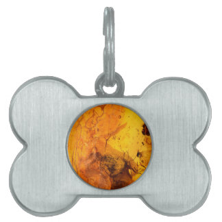 Amber stone texture background pet name tag