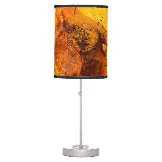 Amber stone texture background table lamp
