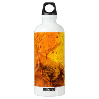 Amber stone texture background water bottle